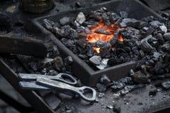 被加热的采煤 免版税库存照片