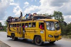 被包装的公共汽车在菲律宾 库存照片