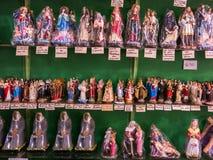 被包装的圣徒雕象 库存照片