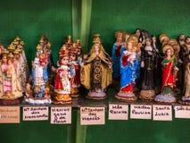 被包装的圣徒雕象 图库摄影