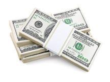 被包装的美元货币 免版税库存图片