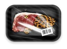 被包装的配件箱肉 免版税库存照片