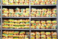 被包装的面包店产品 免版税库存照片