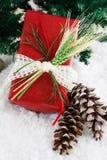 被包裹的礼品红色麦子 免版税库存图片