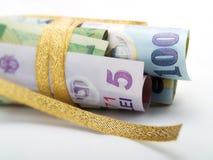 被包裹的礼品货币 免版税库存照片