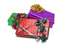 被包裹的礼品 免版税库存照片