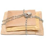 被包裹的链组合证券 库存照片