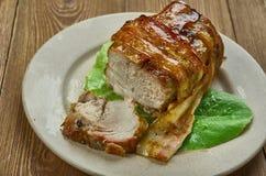 被包裹的Cajun猪里脊肉 免版税库存图片
