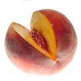 被区分的桃子 免版税库存照片