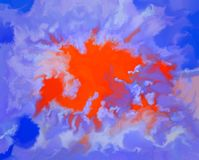 被反射的向日葵星云的吸收 免版税库存照片