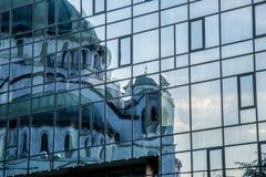 被反射的大教堂 库存图片