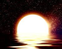 被反射的月亮 库存例证