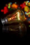 被反射的电灯泡光 库存照片