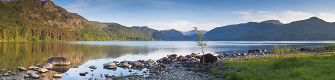 被反射的自然,湖区,英国 免版税库存照片