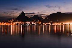被反射的里约热内卢 库存照片
