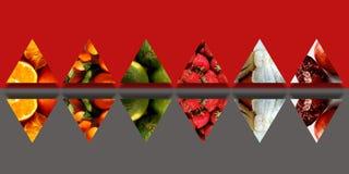 被反映的三角充分有机果子 皇族释放例证