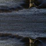 被反映的抽象详细的水纹理 库存图片