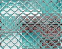 被反映的无缝的重复的瓦片样式蓝色 免版税库存照片