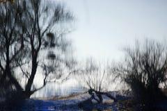 被反映的水反射 免版税图库摄影