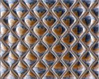 被反映的玻璃无缝的重复的瓦片样式 图库摄影