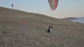 被发动的滑翔伞 股票录像