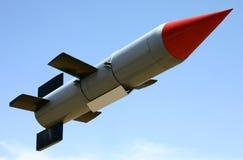 被发射的火箭 免版税库存照片