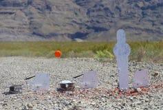被发射的黏土鸟 免版税库存照片