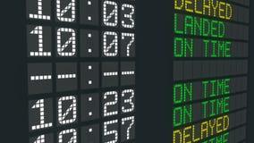 被取消的飞行机场桌标志,国际到来宣扬日程表取消 向量例证