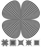 被变形的形状集合 3-3被环绕的和锋利版本 库存例证