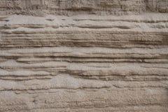 被叠加的沙子 免版税库存图片