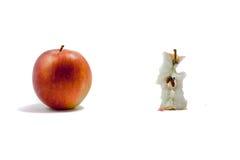 被吃的苹果 免版税库存照片