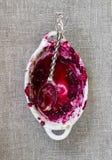 被吃的莓果碎屑 图库摄影
