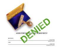 -被否认的租约的任务 免版税库存照片