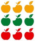 被咬住的和整个苹果 免版税库存图片