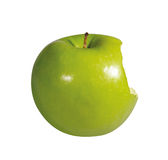 被咬住的苹果 库存图片