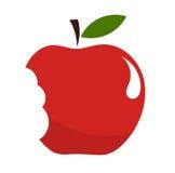 被咬住的苹果 免版税库存照片