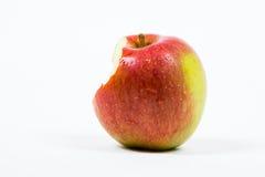 被咬住的Braeburn Apple 免版税库存图片