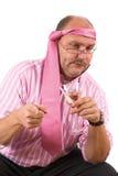 被喝的生意人 免版税库存照片