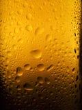 被喷的啤酒瓶 库存照片