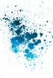 被喷洒的蓝色油漆 免版税图库摄影
