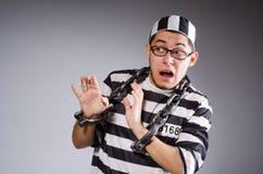 被囚禁滑稽的囚犯 库存图片