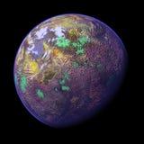 被回报的1个3d行星 免版税图库摄影