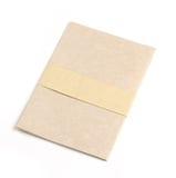 被回收的盖子前笔记本纸张 库存图片