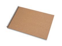 被回收的盖子前笔记本纸张 免版税库存图片