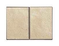 被回收的笔记本开放 免版税库存图片