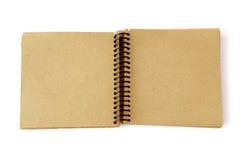 被回收的笔记本纸张 免版税库存照片