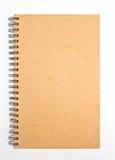 被回收的纸笔记本。 免版税库存照片