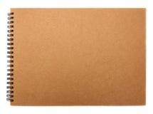 被回收的纸笔记本封面 免版税库存照片