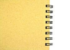被回收的纸笔记本 免版税库存照片