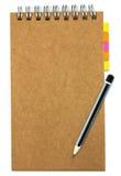 被回收的纸笔记本 免版税库存图片